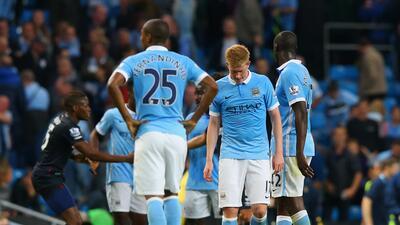 Kevin De Bruyne marcó el gol del descuento pero al City no le alcanzó.
