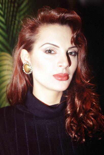 Carmen Campuzano en 1999, cuando salía con Andrés Garc&iac...