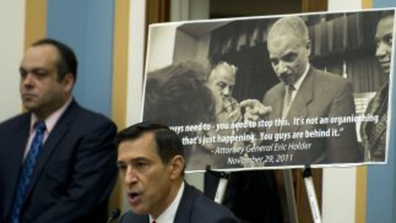 El republicano Darrell Issa señaló quees la primera vez que alguien se...