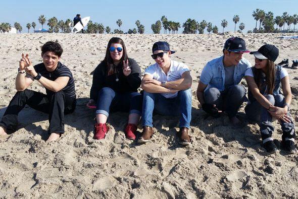Danny, Yazaira, Poyato, Virginia y Fernando viajaron unos días a Califor...