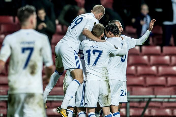 Copenhague 3-0 Zlin: justamente, el equipo danés ganó en esta jornada y...