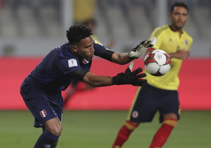 Pedro Gallese (Perú): fue una de las sensaciones en el juego ante Perú (...