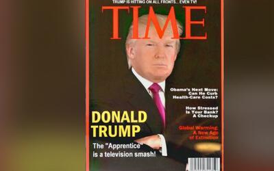 Portada de Time sobre el triunfo de Trump que se exhibe en sus clubes de...