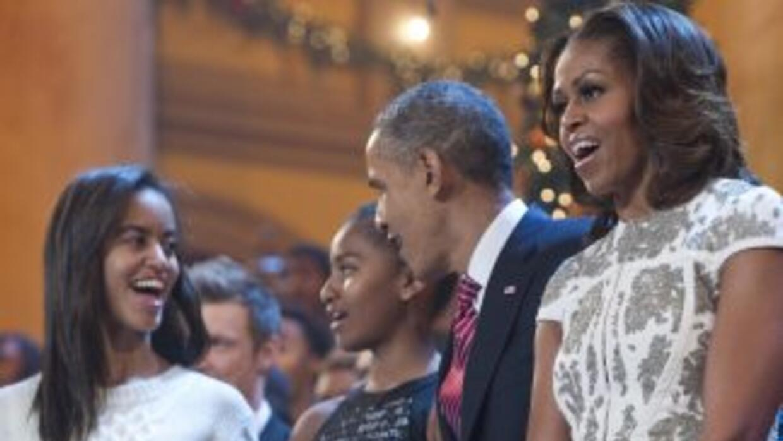 La familia Obama.