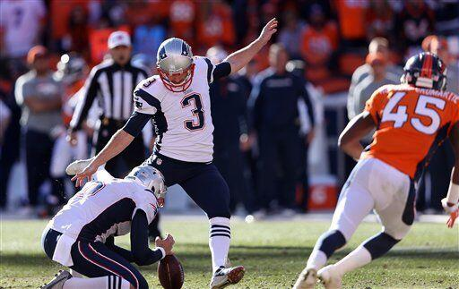 Stephen Gostkowski, pateador de los New England Patriots (AP-NFL)