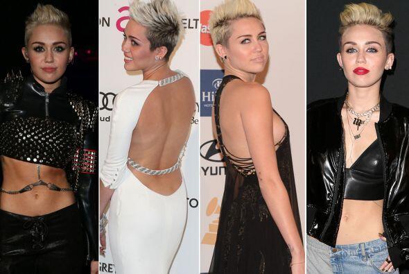 Las prendas conservadoras y femeninas que solía usar, ya no forma...