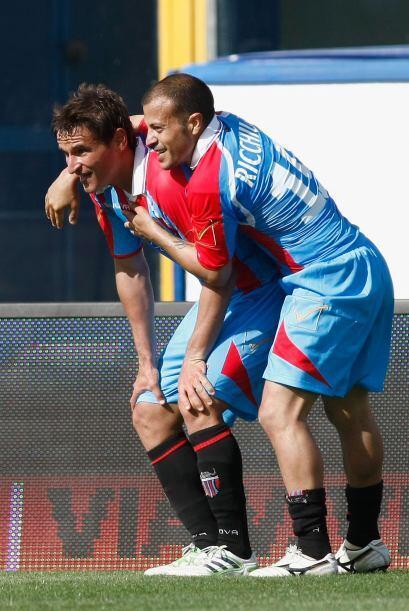El 2-0 definitivo fue obra de Gonzalo Bergessio cuando el reloj marcaba...
