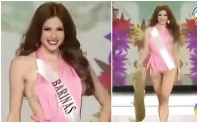 ¡Ups! Reina en Venezuela mostró más de la cuenta durante su desfile en t...