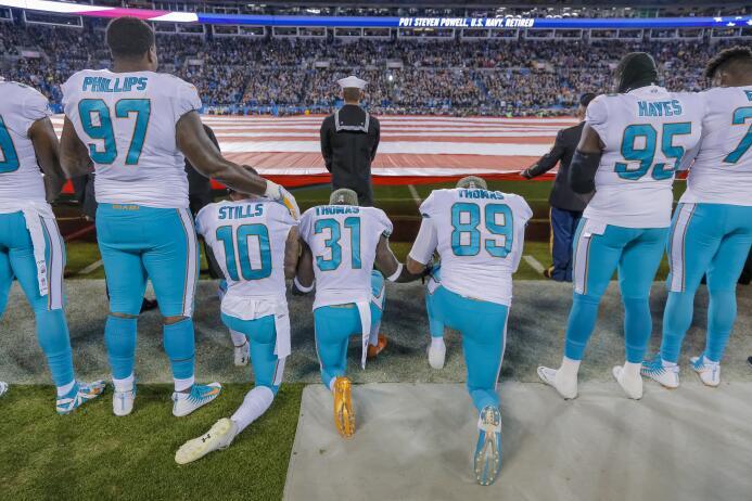 El año en la NFL estuvo marcado por constantes protestas de jugadores y...