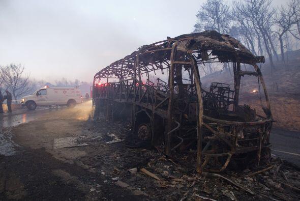 Las víctimas eran guardianes de una  prisión que viajaban en un autobús...