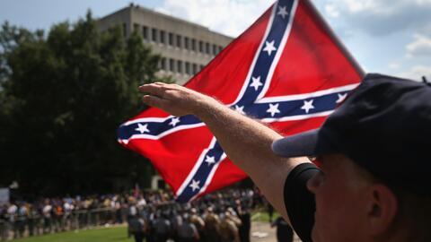 Una demostración del Ku Klux Klan en Carolina del Sur, en julio d...