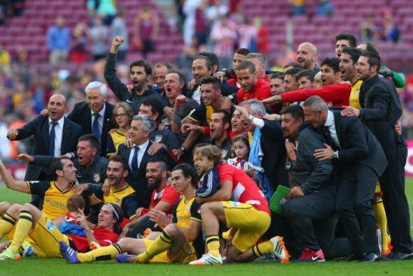 Foto para el recuerdo. Atlético campeón de la Liga 2013-14.