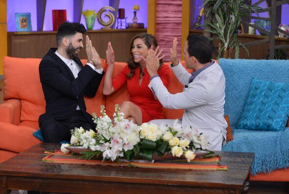 Los tres están muy emocionados de estar juntos en Sal y Pimienta.