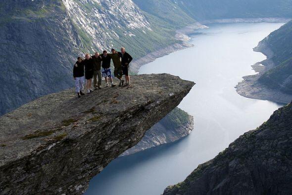 Trolltunga en Hordaland, Noruega