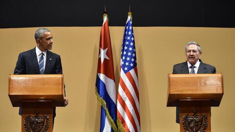 Conferencia de Prensa de Obama y Castro en La Habana