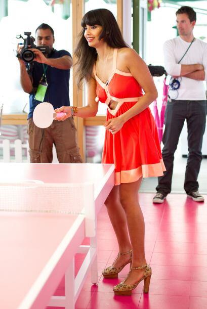 Las cámaras acapararon a la hermosa modelo y presentadora de la televisi...