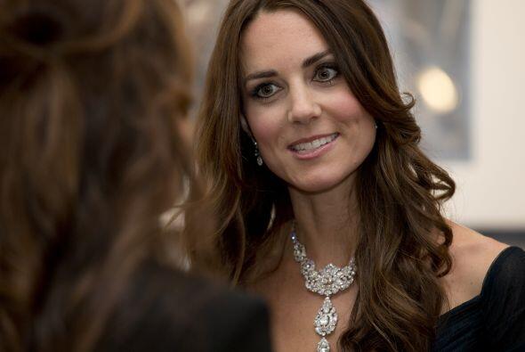 Esta es la segunda vez que Middleton elige ese vestido para una aparició...
