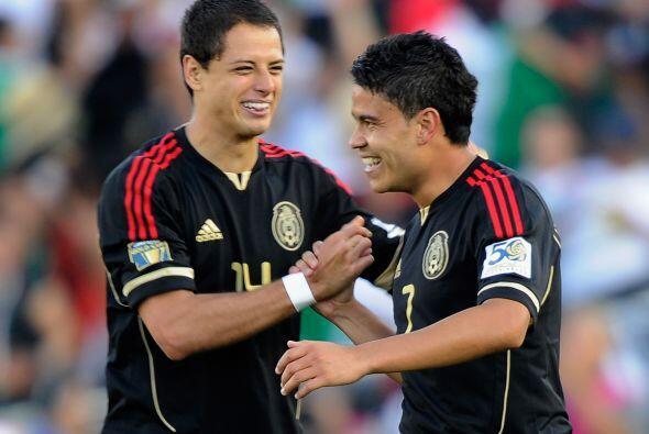 Luego brilló en la Copa Oro 2011. Javier Hernández se casó de hacer gole...