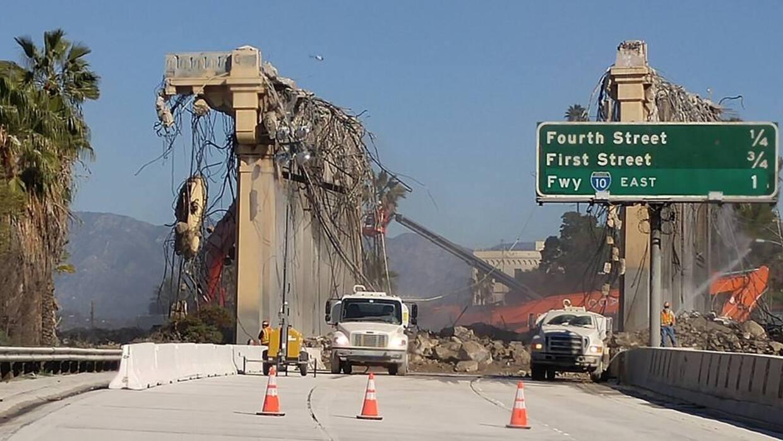 La demolición del puente tardará 40 horas