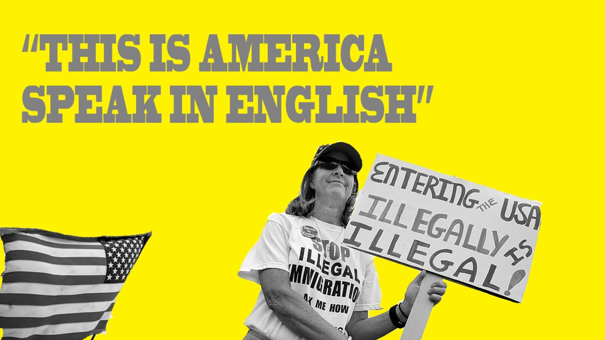 This is America, speak in English