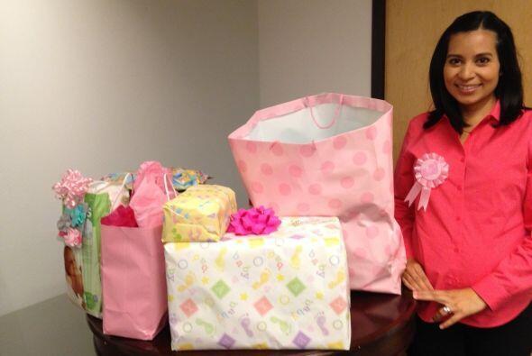El 25 de septiembre fue el baby shower de Mariana Pineda, quien estaba e...