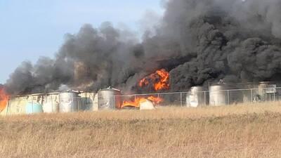 Una planta química explotó el jueves al suroeste de Fort W...