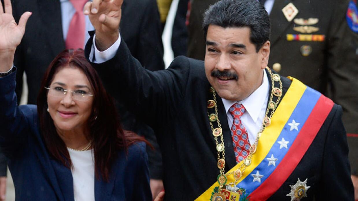 Nicolas Maduro, presidente de Venezuela y su esposa Cilia Flores