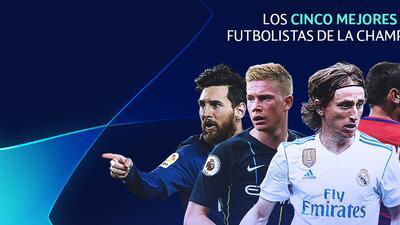 Los cinco mejores futbolistas de la UEFA Champions League