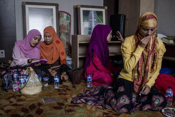 Las participantes tuvieron que demostrar sus conocimientos del Corán.
