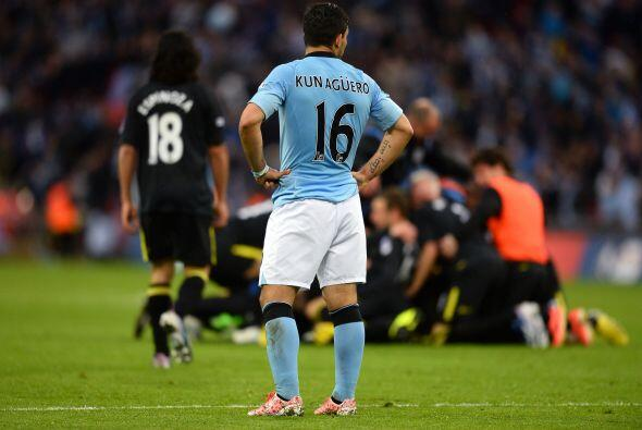 El Manchester City veía como se les iba el trofeo en el último suspiro.
