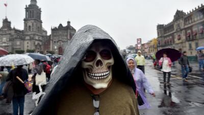 Manifestación por los 43 de Ayotzinapa en Ciudad de México.