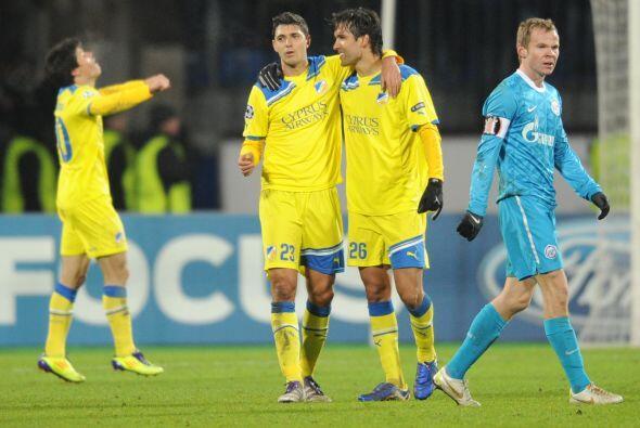 Con dos triunfos y tres empates, el APOEL dejó fuera a Oporto y Shakhtar...