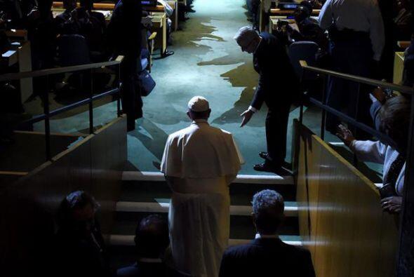 El Papa antes de su intervención ante Naciones Unidas en NY.