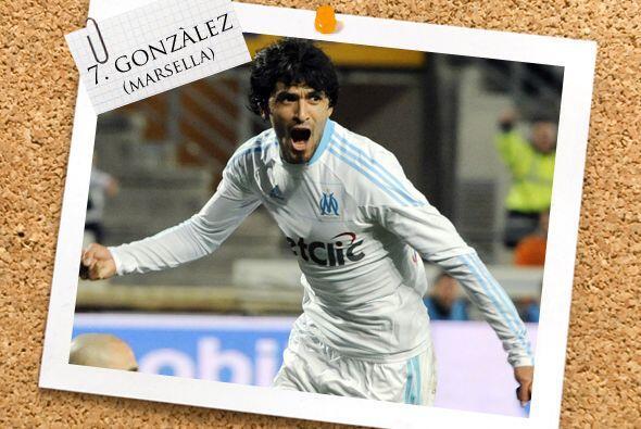 Otro volante goleador es el argentino Luis González del Olympique de Mar...