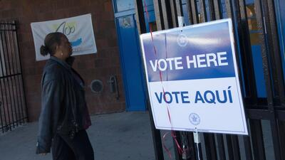A polling place in the Bronx, New York.