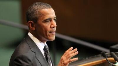 Obama habló ante la Asamblea General de la ONU en New York.