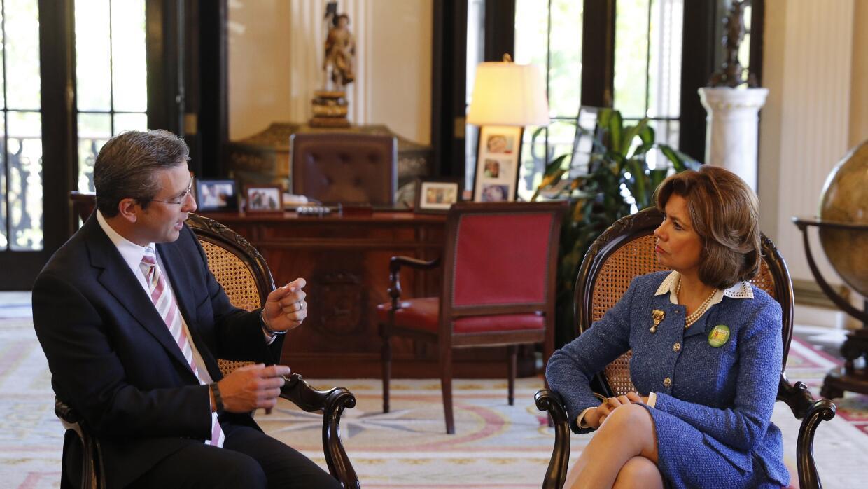 El gobernador Alejandro García Padilla se reunió con la  administradora...