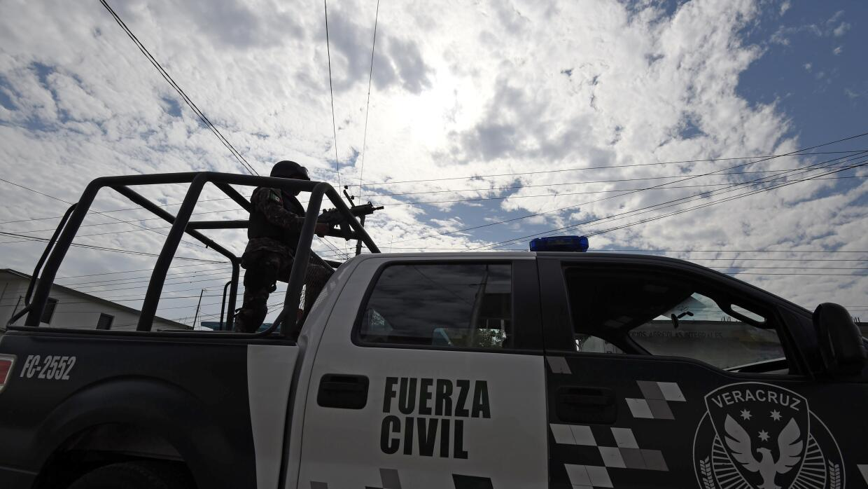 Fuerzas de seguridad en Veracruz.