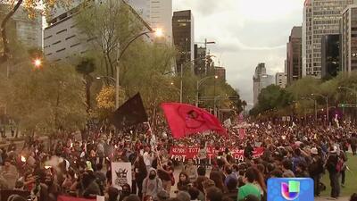 Protestas y marchas en México por estudiantes desaparecidos en Guerrero