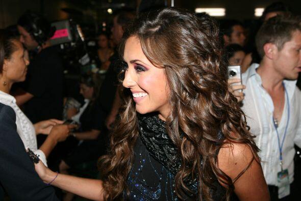La cantante mexicana estaba muy contenta de volver al escenario de PJ.