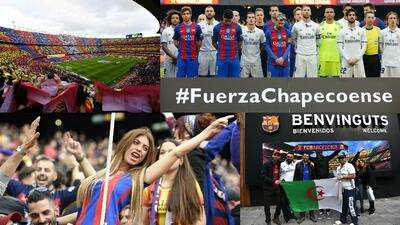 Entre fiesta y luto, el ambiente del clásico Barcelona-Real Madrid
