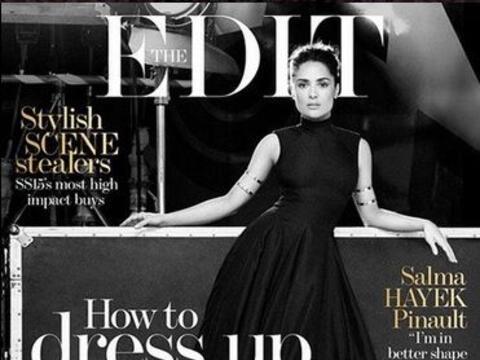 Recientemente, Salma Hayek conquistó en la nueva portada de la re...