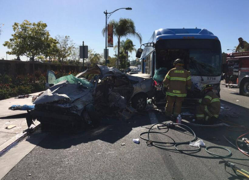 Accidente de autobús en Anaheim, California