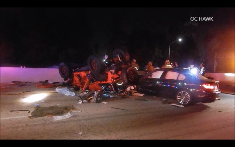 Un hombre y sus dos hijos mueren en accidente múltiple en la autopista 91.