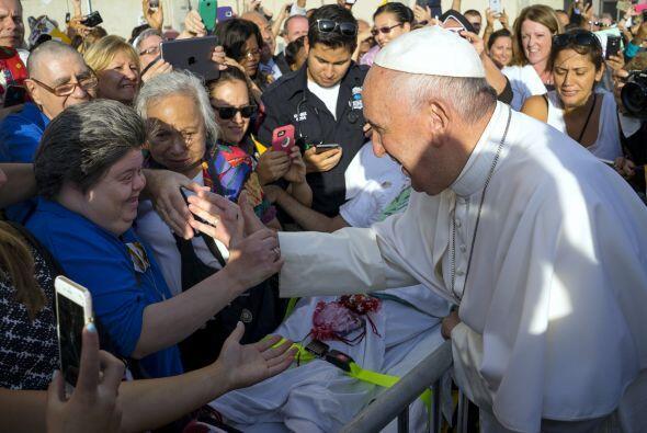 La recepción al pontífice en NY.