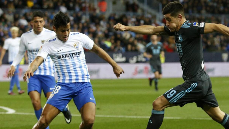 Resultado de imagen de Málaga  2-0  Real Sociedad