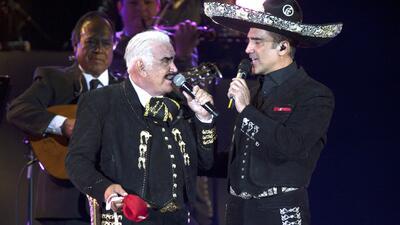 Vicente Fernández y su hijo Alejandro Fernández