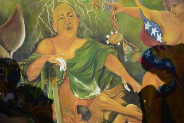 Pero el culto a Hugo Chávez también se ha extendido al ámbito del arte....