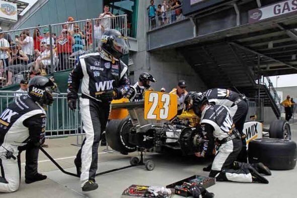 Las últimas paradas a los 'pits' provocaron más de 10 cambios en la punt...
