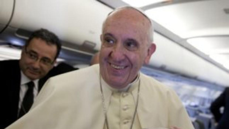El papa Francisco antes de llegar a Tierra Santa.